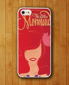 Ariel Little Mermaid Red Poster Disney iPhone Skin Protector for iPhone 4 4S 5 5S 5C . http://www.gajetto.nl #phone case