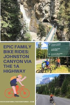 Bike a glorious paved highway without traffic to Johnston Canyon in Banff to hike with your family this spring. #banff #alberta #canada #canadianrockies #biking #kidsonbikes #activefamily #explorealberta #explorecanada Adventure Bucket List, Family Adventure, Adventure Travel, Banff Alberta, Alberta Canada, Outdoor Life, Outdoor Fun, Johnston Canyon, Canadian Travel