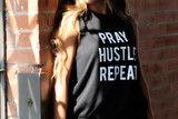 Pray Hustle Repeat Muscle Tank - M / Black Tee