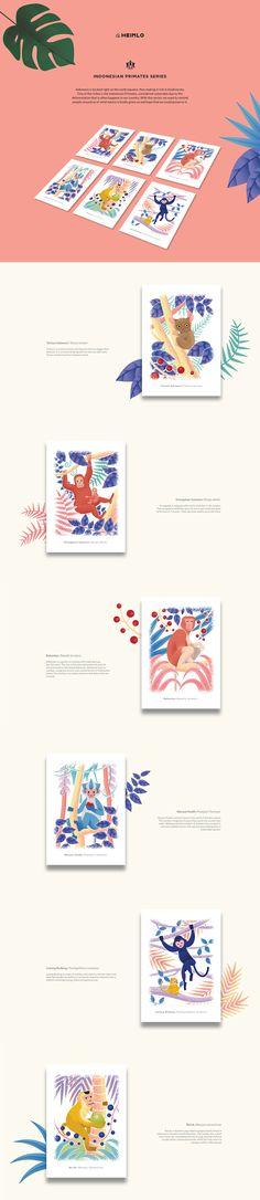 HEIMLO: Indonesian Primates Series Postcards on Behance