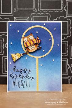 Roxanne O'Brien, Organized Chaos | Happy Birthday Muggle! Card @lawnscaping @lawnfawn
