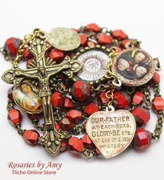 Jesuits Rosary 205C made Amy http://onlinestore.tlicho.ca/collections/artists-rosaries-by-amy/products/jesuits-rosary-205c