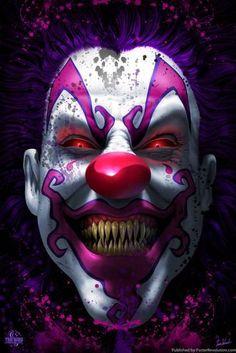Keep Smiling Scary Clown Horror Tom Wood Fantasy Art Poster Joker Iphone Wallpaper, Joker Hd Wallpaper, Joker Wallpapers, Skull Wallpaper, Es Der Clown, Le Clown, Clown Faces, Creepy Clown, Horror Artwork