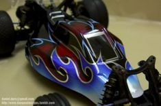 This collection of custom painted RC bodies should get your creative juices flowing. You will find an endless amount of inspiration here for your next project. As always please do not simply copy any airbrush work! Use these designs as inspiration to create your own custom painted design.