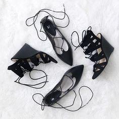 Hello Lovah   New shoes. Better mood. xoxo - K  #occasionallyfashionable #shoelover #shoes #black #laceup #sexy #lilthings #everydayflats #daytimeshoes #babychasingwedges #dayornight #shoesforlife #fashion #style #whatillbewearing #helloLOVAH #CarrieBradshaw #shoesinthecity #jk #iliveinthecountry #kinda # # #❤️ #nordstrom #nordstrombp #forever21 #flats : @nordstrom // #wedges : @forever21 - I know amazing right?! Both are under $60  #f21xMe