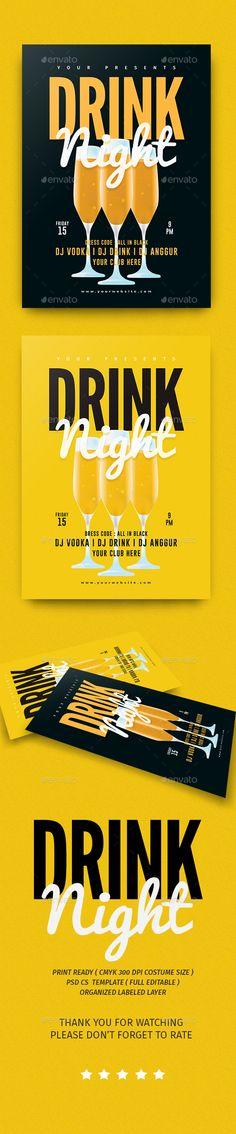 Drink Night Flyer