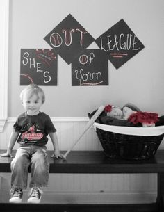 She's out of your league little sister/big brother newborn photography. Baseball.  Infant photography.  Siblings.