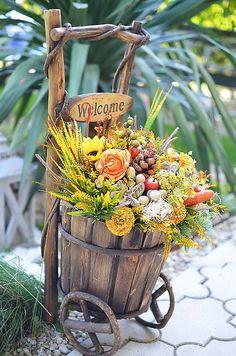 Jesenný vozík WELCOME♥