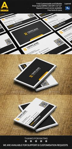 Business cards bundle template psd design download http modern personal business card an0417 reheart Images