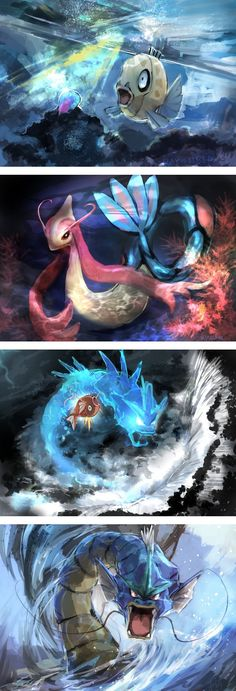 Evolving Feebas or Magikarp Pokemon Comics, Pokemon Memes, Pokemon Funny, Anime Comics, Pokemon Stuff, Pokemon Team, Pokemon Fan Art, Digimon, Powerful Pokemon