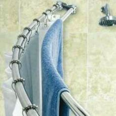 double shower rod for towels