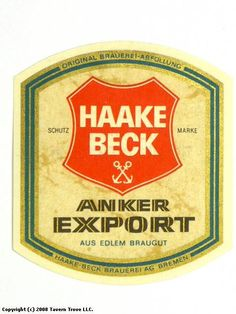 Anker Export Haake-Beck Brauerei AG Bremen Germany