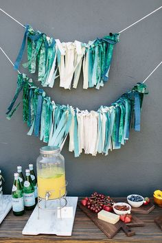 simple garland (above the baby's crib?)