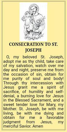 Prayer Verses, Faith Prayer, Prayer Book, Prayer Quotes, St Joseph Prayer, St Joseph Catholic, Saint Joseph, Spiritual Images, Spiritual Words