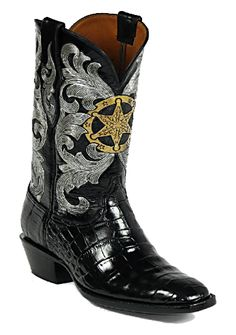 Hand-Tooled Leather Boots Style HT-115 Custom-Made by Black Jack Boots