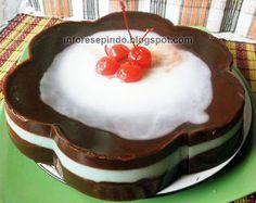 Puding Coklat Susu Saus Vla Vanila - Resep Dessert Indonesia
