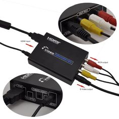 HDMI to Composite 3RCA AV S-Video Converter 720P/1080P For PC/PS3/TV/DVD/Camara #UnbrandedGeneric
