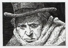 ACEO TW NOV Original Painting Scrooge Christmas carol xmas Dickens Ebenezer #Impressionism Watercolor Paintings, Original Paintings, Ocean Creatures, Artist Trading Cards, Christmas Carol, Acrylic Art, Baby Animals, Ebay, Atc