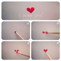 nail art - little heart