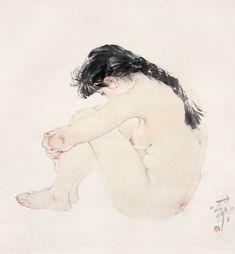 [中]現代 공필[工筆:Gongbi painting]화가 /何家英 [He Jiaying]의 裸女 : 네이버 블로그