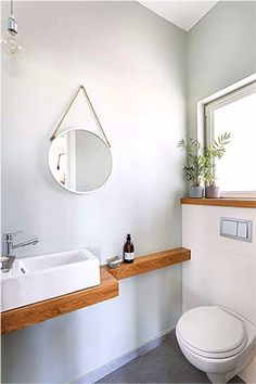 Small Downstairs Toilet, Small Toilet Room, Guest Toilet, Downstairs Bathroom, Bathroom Design Small, Bathroom Interior Design, Small Toilet Design, Ideas Baños, Wc Design