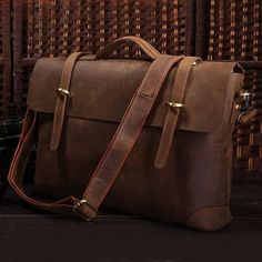 Product Description (L7F-082): This bag is made of Antique Crazy Horse leather from Italy with cotton fabric lining inside, which made it wearable....