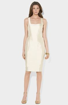 Lauren Ralph Lauren Silk Dupioni Sheath Dress available at #Nordstrom