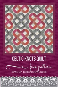 New Patchwork Quilting Patterns Celtic Knots Ideas Patchwork Quilt Patterns, Quilt Block Patterns, Quilt Blocks, Panel Quilts, Quilting Tips, Quilting Tutorials, Quilting Designs, Sewing Tutorials, Sewing Ideas