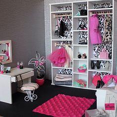 Купить Гардеробная комната для кукол Monster High и др. - комбинированный, комната для кукол, кукольная мебель