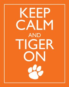 Keep calm and TIGER on!