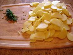 Perfect Potatoes a.k.a. Sentimental Spuds (recipe:  Buttermilk and Chives Scalloped Potatoes)