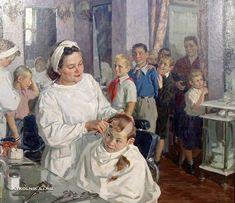 Суздальцев Михаил Аркадьевич (1917-1998) «Завтра в школу» 1951