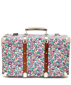 Flowers of Liberty Betsy Liberty Print Mini Suitcase | Home Accessories | Liberty.co.uk.                                          Ok, so it's not a purse but it's so cute!