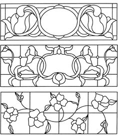 Welcome to Dover Publications: Doorways, Windows & Transoms Stained Glass Pattern Book (Dover Stained Glass Instruction) by Anna Croyle (Paperback). NOTE: no colors & difficult to scale! Stained Glass Flowers, Faux Stained Glass, Stained Glass Designs, Stained Glass Panels, Stained Glass Projects, Stained Glass Patterns, Leaded Glass, Mosaic Patterns, Mosaic Glass