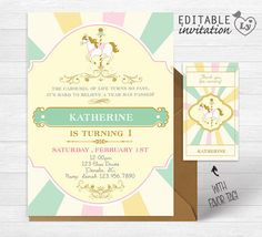 Carousel INSTANT DOWNLOAD Editable Invitation / by Layouteria