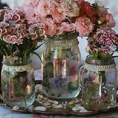 Mason Jar Centerpieces | Mason jars centerpieces | Wedding Ideas