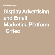 Display Advertising and Email Marketing Platform Display Advertising, Email Marketing, Platform, Ads, Tools, Digital, Wedge, Appliance