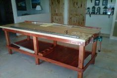 American Workbench woodworking table.