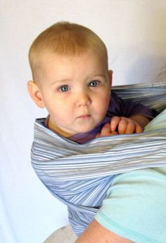 7c2b15e2051 Baby Wrap Woven Slate Stripe DVD included by lilpeeperkeepers