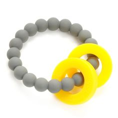 Mulberry Teether Bracelet- Stormy Grey by Chewbeads