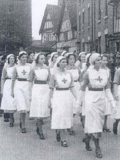British nurses in Sparkhill at the outbreak of WWII