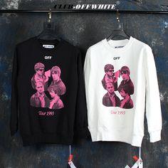 White Outfits, Graphic Sweatshirt, T Shirt, The Beatles, Off White, Crew Neck, Unisex, Retro, Sweatshirts