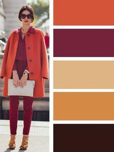 Colour combinations fashion, orange color combinations, color combinations for clothes, color pallets, Colour Combinations Fashion, Color Combinations For Clothes, Fashion Colours, Colorful Fashion, Color Combos, Colourful Outfits, Color Schemes, Fashion Mode, Womens Fashion