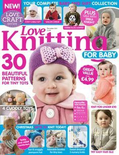 Love Knitting for Babies December 2015 - 轻描淡写 - 轻描淡写 Kids Knitting Patterns, Love Knitting, Knitting Books, Knitting Videos, Knitting For Kids, Knitting Designs, Baby Patterns, Knitting Projects, Knitting Paterns