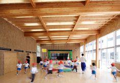 大規模木造建築作品集(相原幼稚園遊戯室)  株式会社シェルター