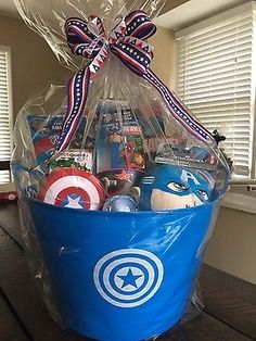 Despicable me minion gift basket basket case pinterest gift marvel captain america gift basket with 375 action figures negle Image collections