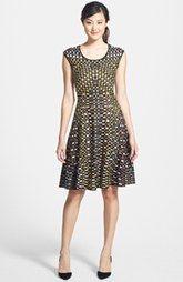 NIC+ZOE 'Textural Dots' Twirl Dress