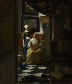 The love letter by Johannes Vermeer, c.1669- c.1670. Rijksmuseum, Public Domain