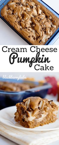 Pumpkin Cream Cheese Cake is packed with pumpkin spice flavor! This recipe includes easy adaptations for a Pumpkin Spice Crunch Cake, as well. Homemade Desserts, Homemade Cakes, Easy Desserts, Delicious Desserts, Dessert Recipes, Dinner Recipes, Keto Desserts, Cupcake Recipes, Fall Recipes