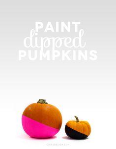 DIY Paint Dipped Pumpkins